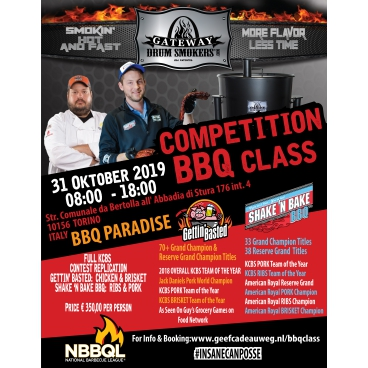 31 OCT 2019 COMPETITION BBQ CLASS